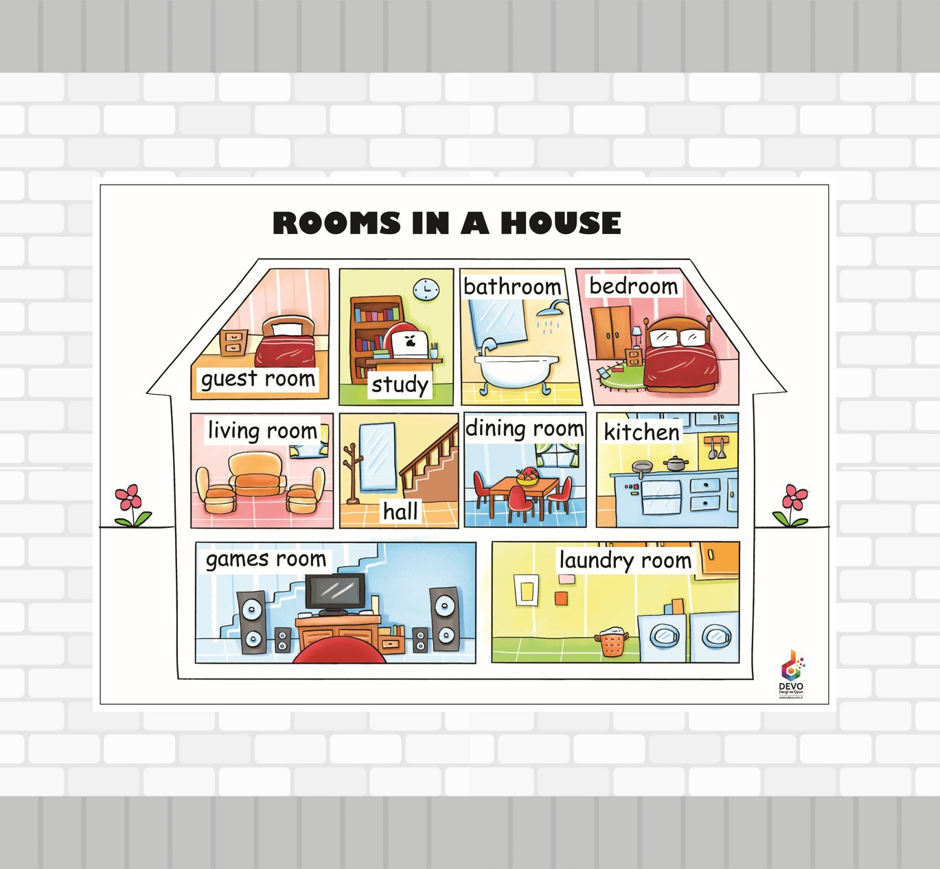 Rooms in a House  Poster - Evin Odaları Posteri