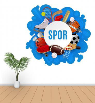 Spor Salonu Poster ve Sticker